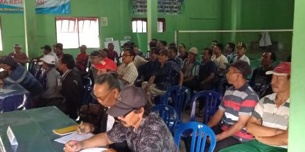 Acara Sekolah Lapang penanggulangan JAP di Desa Gesing