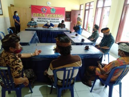 Rapat Pembahasan Persembahyangan Hari Raya Galungan Di Pura Dalem #tetapjagakesehatan